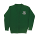 Junior girls green V-neck cardigan (Rec - Y6)