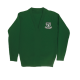 Junior boys green V-neck jumper (Rec - Y6)
