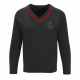Black V neck Unisex jumper - compulsory
